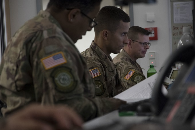AMOS provide command and control during Swift Response '18